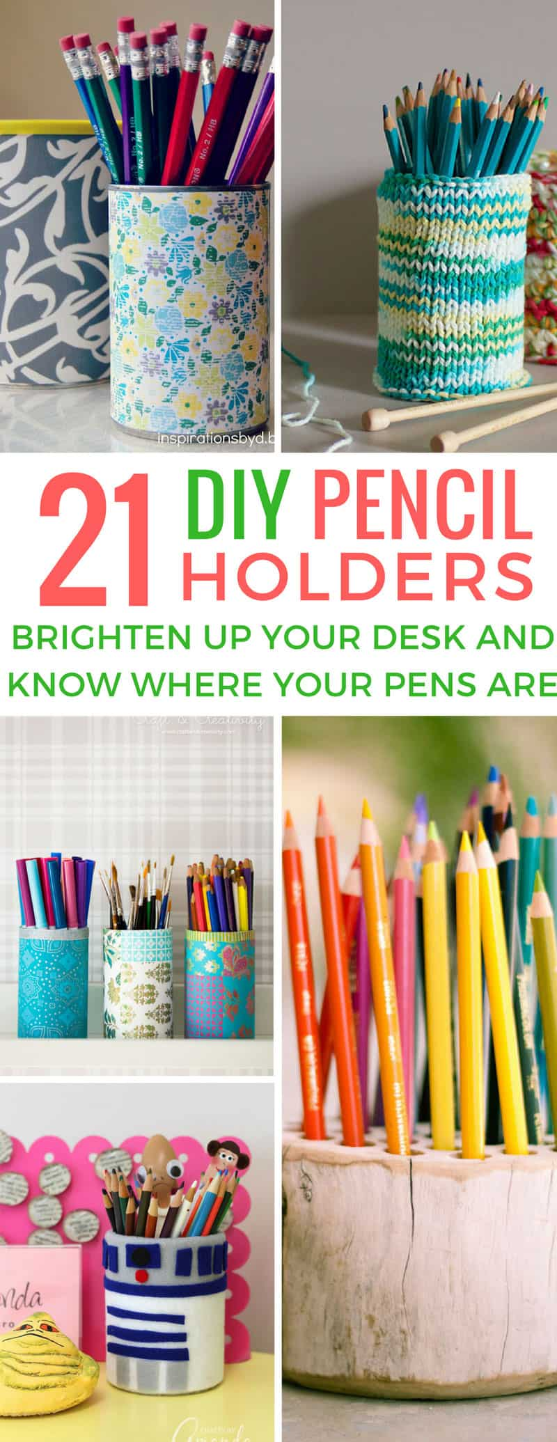 These DIY pencil holders are perfect for keeping my pens in one place! Great back to school teacher gift too don't you think?
