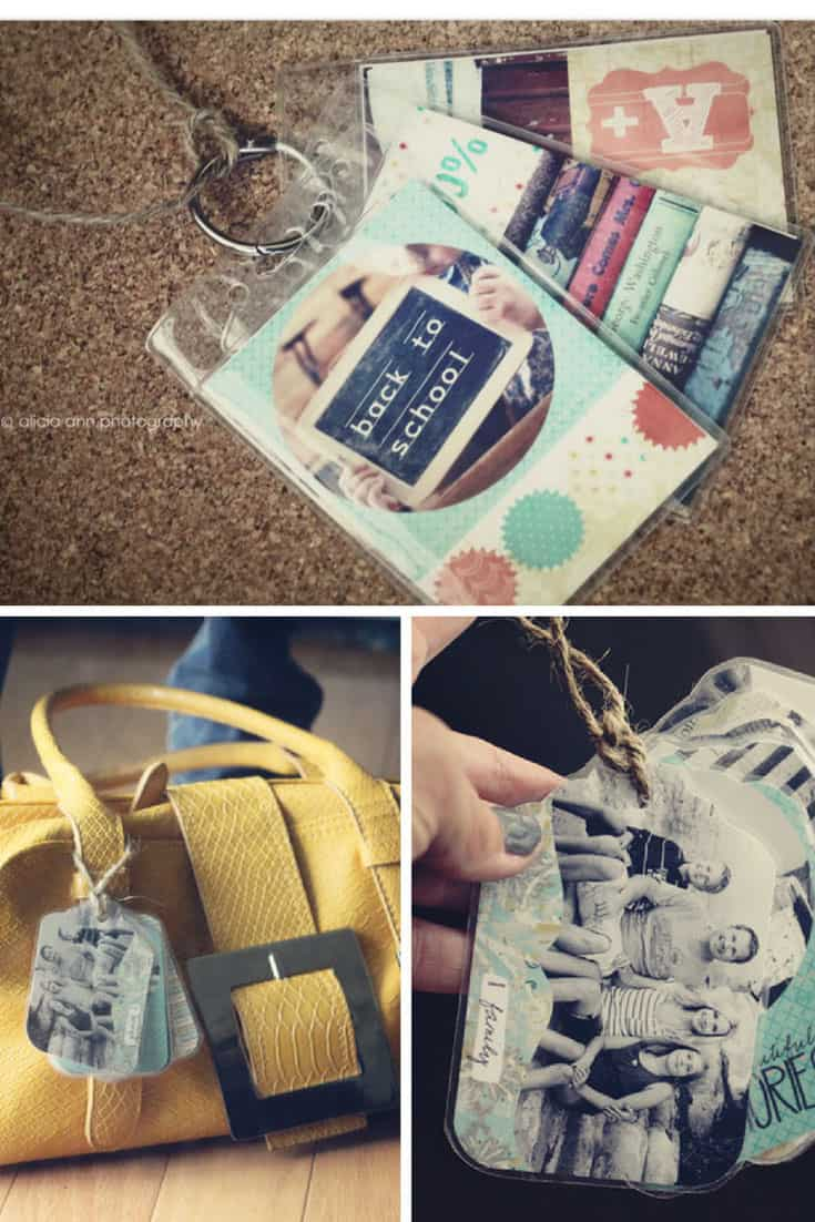 DIY Photo Luggage Tags