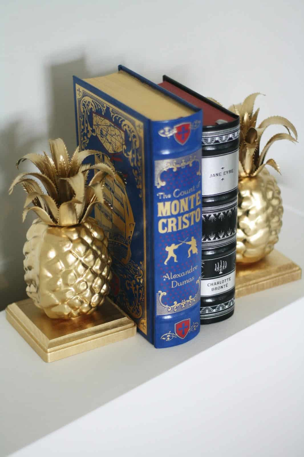 DIY Pineapple Bookends