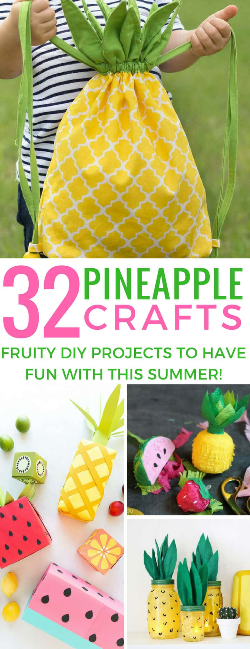 You can't beat a DIY pineapple craft to put you in a sunny mood! Love these ideas! Thanks for sharing!