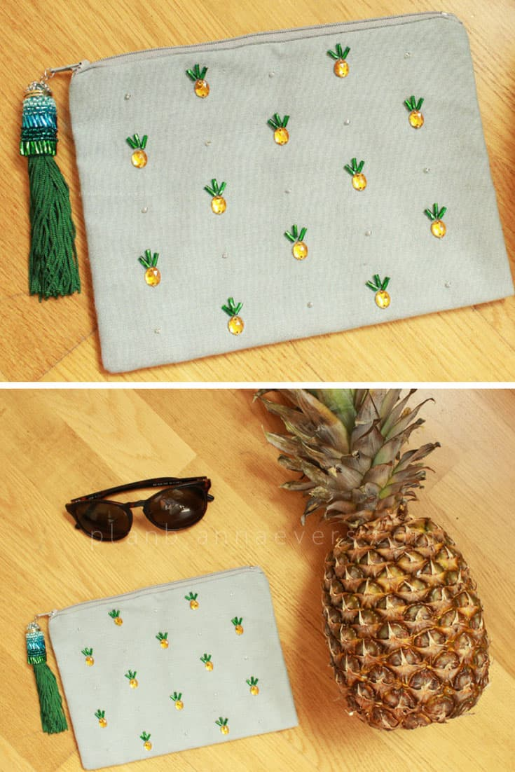 DIY Pineapple Pouch with Tassel