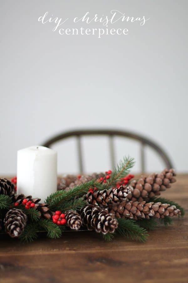 DIY Pinecone Christmas Centerpiece