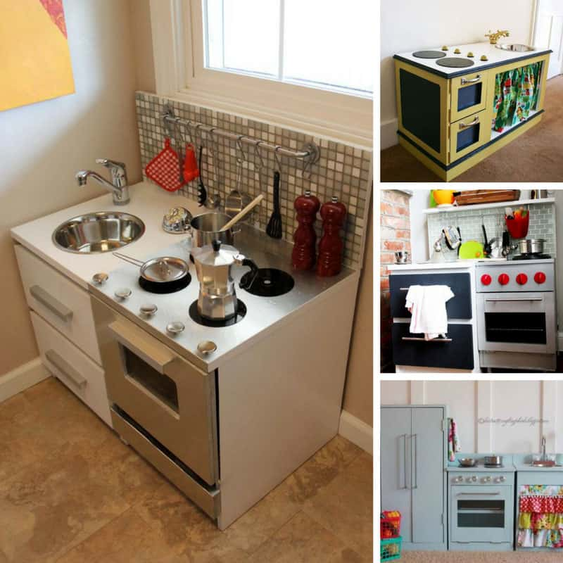 Loving these DIY play kitchens - heck they're better than my real one!