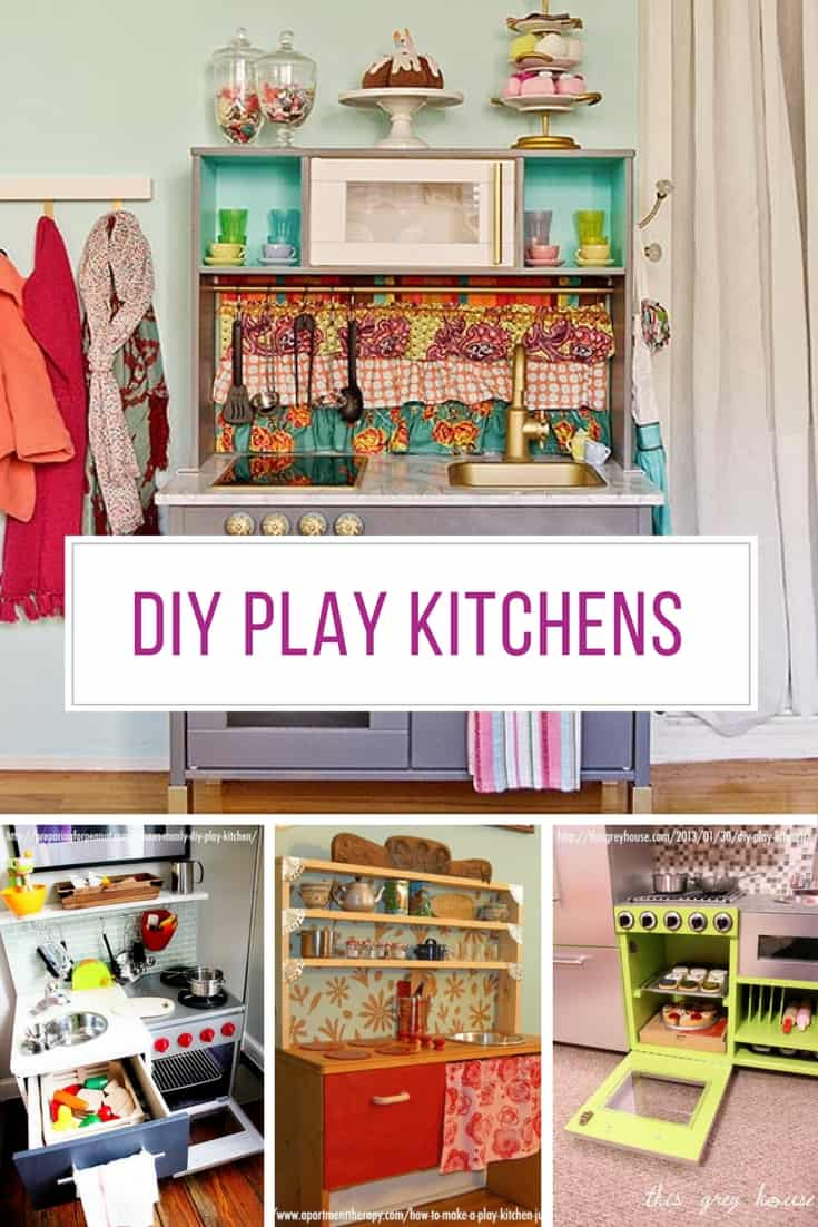 LOVING these DIY play kitchens - they're better than my real kitchen!
