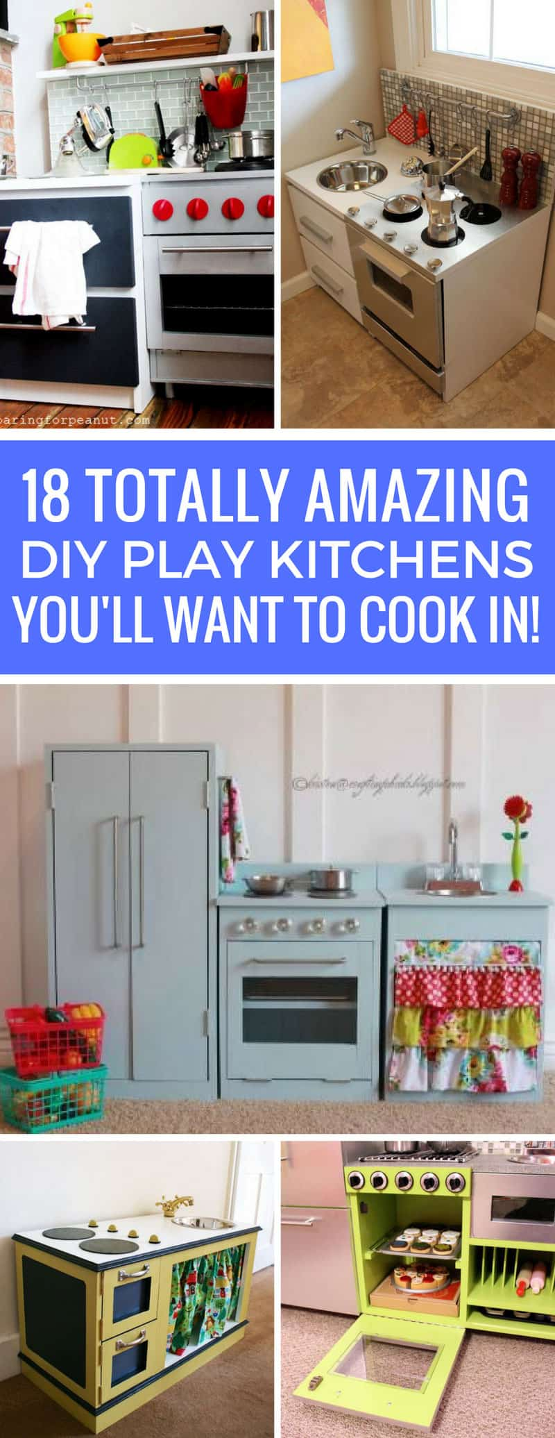 Wow - these DIY play kitchens are incredible! So much inspiration - Thanks for sharing!