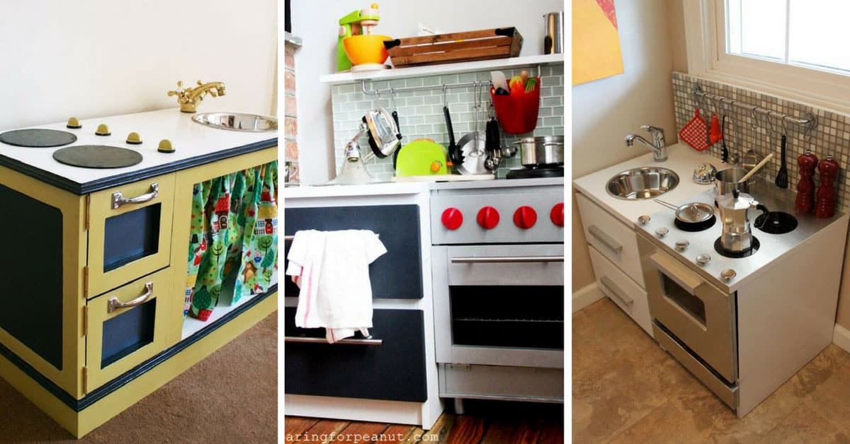 18 diy play kitchens so amazing youll want to cook in them yourself solutioingenieria Image collections