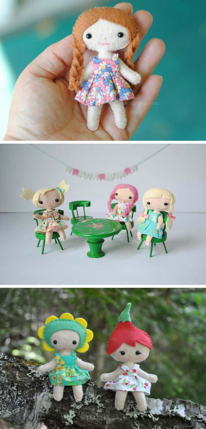 DIY Pocket Felt Dolls - Pinterest