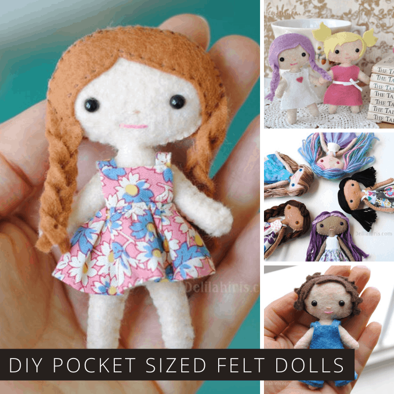 How cute are these teeny tiny dolls! Check out this easy to follow pattern to make playmates for your child!