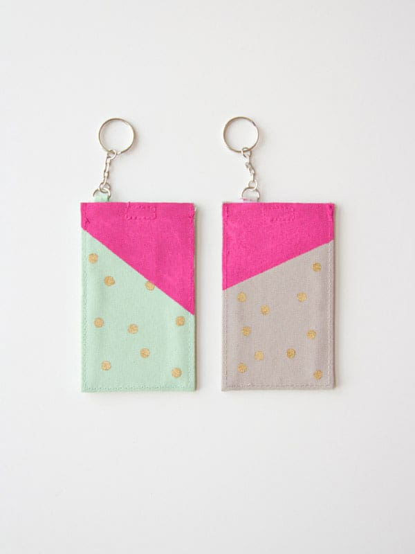 DIY Polka Dot Luggage Tags