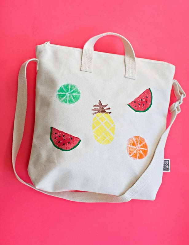 DIY Potato Stamp Fruit Bag
