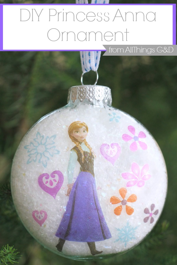 DIY Princess Anna Ornament