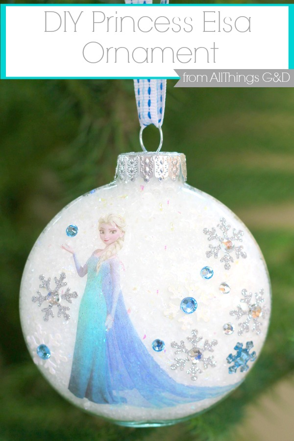 DIY Princess Elsa Ornament