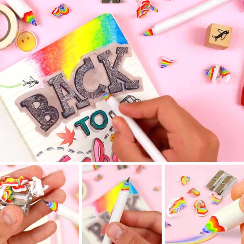 These DIY rainbow pencils are so easy to make! Thanks for sharing!