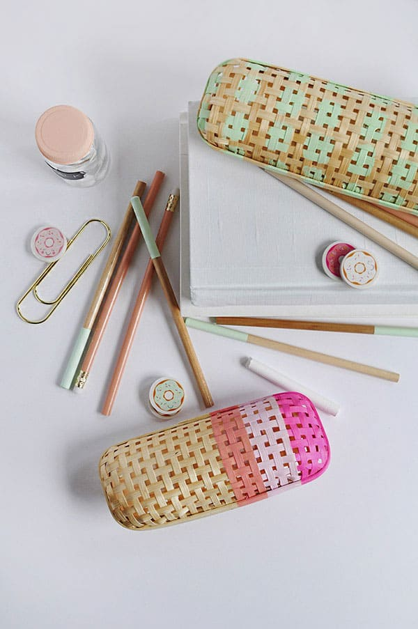 DIY Rattan Pencil Case