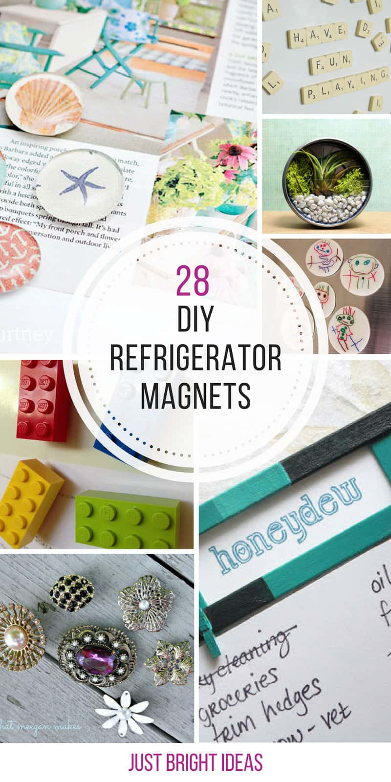 Loving these DIY refrigerator magnets! Thanks for sharing!