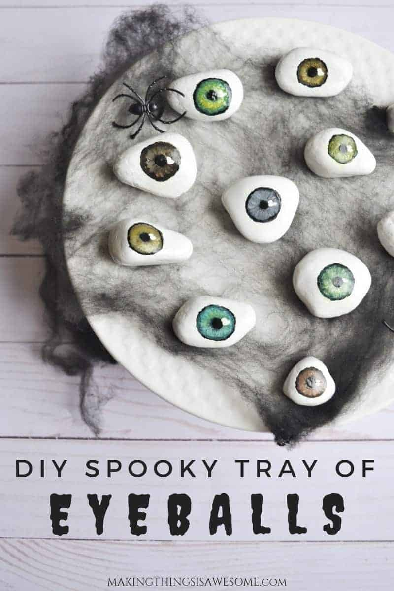Spooky Tray of Eyeballs