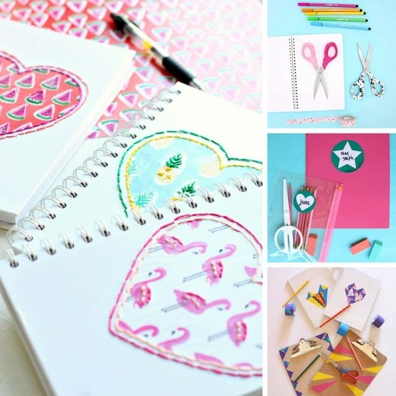 These DIY school supplies are so fun!