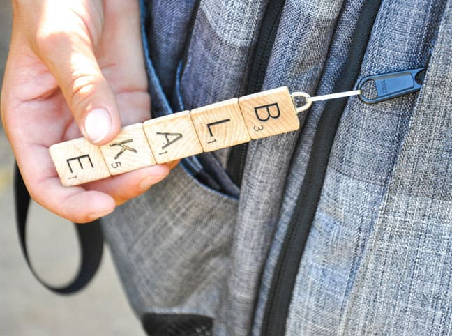 DIY Scrabble School Bag Zipper Pull