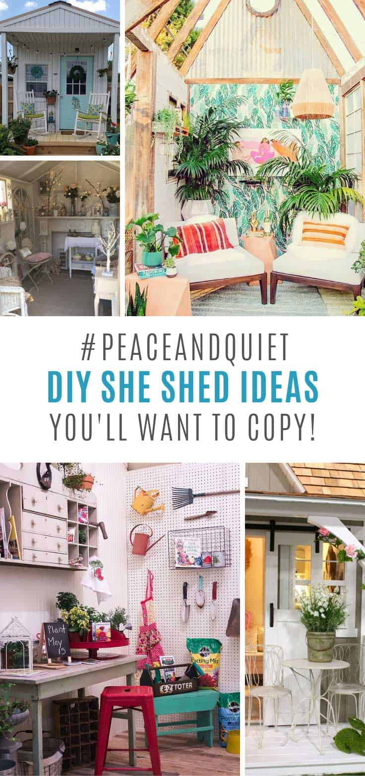 OMG these DIY she shed ideas are amazing!