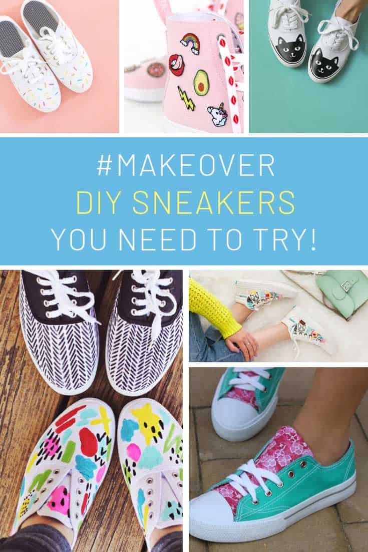 Loving these DIY sneaker makeovers! Perfect for back to school!