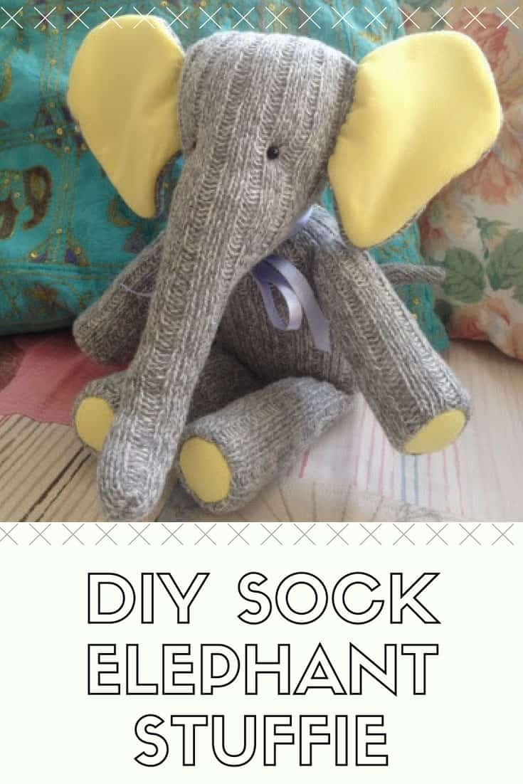 DIY Sock Elephant Stuffie
