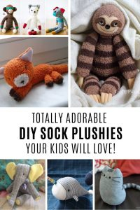 Oh my goodness these DIY sock plushies are too cute for words!