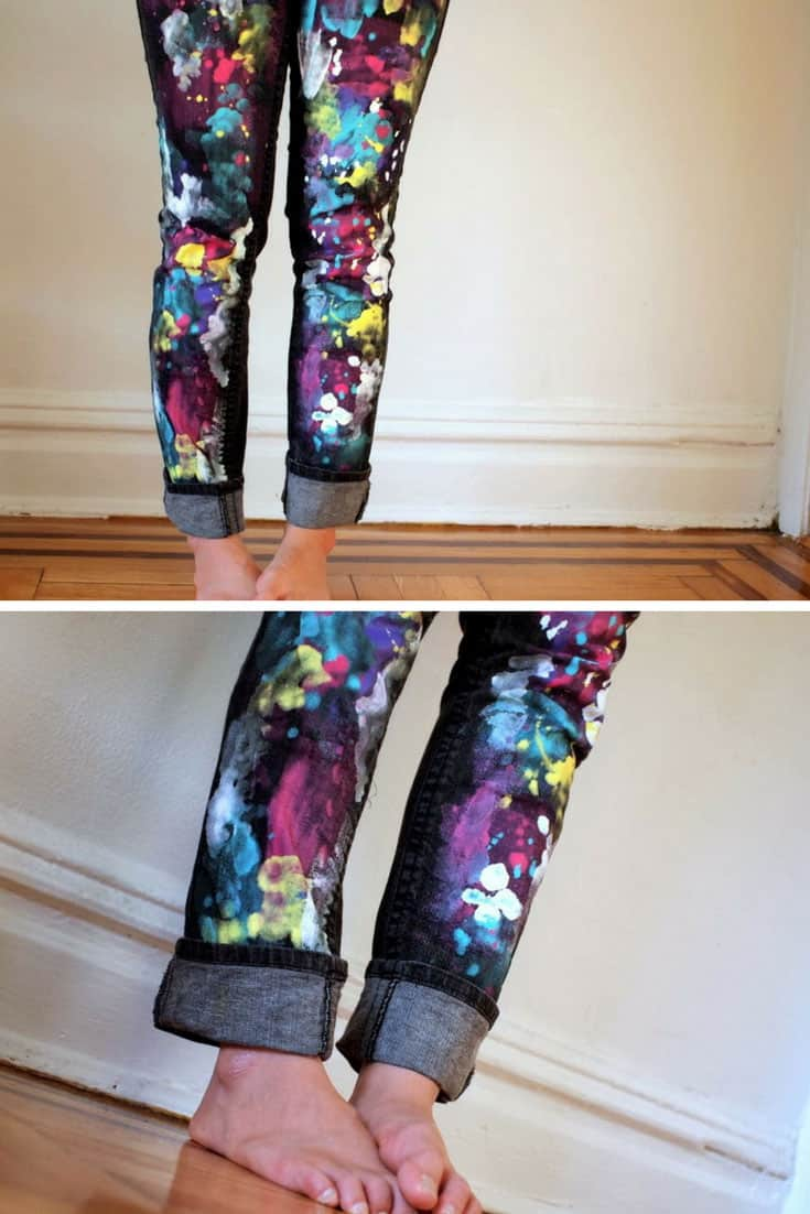 DIY Splatter Paint Leggings