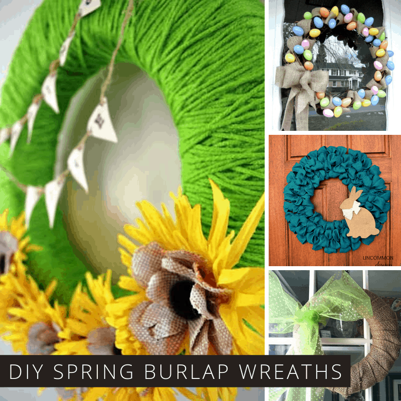 These DIY burlap wreaths are just what we need to celebrate Spring and cheer up our front doors!