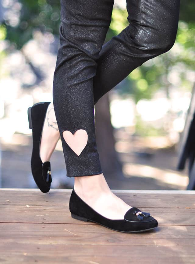 DIY Sweetheart Ankle Cut Jeans