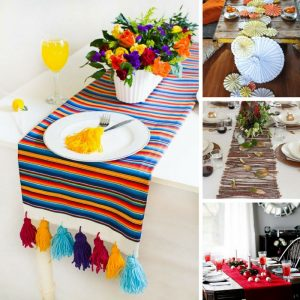 DIY Table Runners for Weddings, Christmas, Dinner Parties and Thanksgiving - FB Square