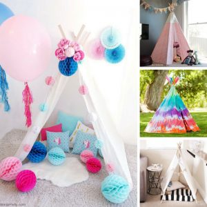 You just can't beat a DIY teepee for chilling out!