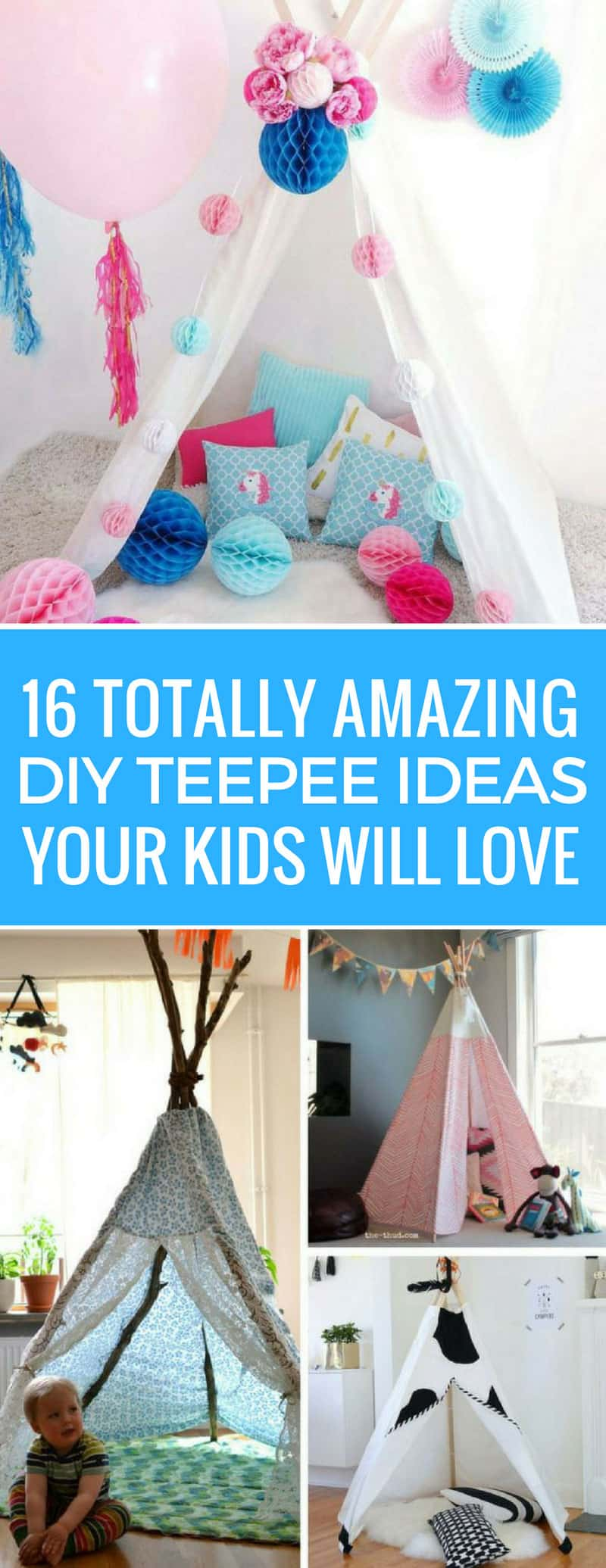 These DIY teepee ideas are brilliant!! The kids have been asking for one and now I can make it! Thanks for sharing!