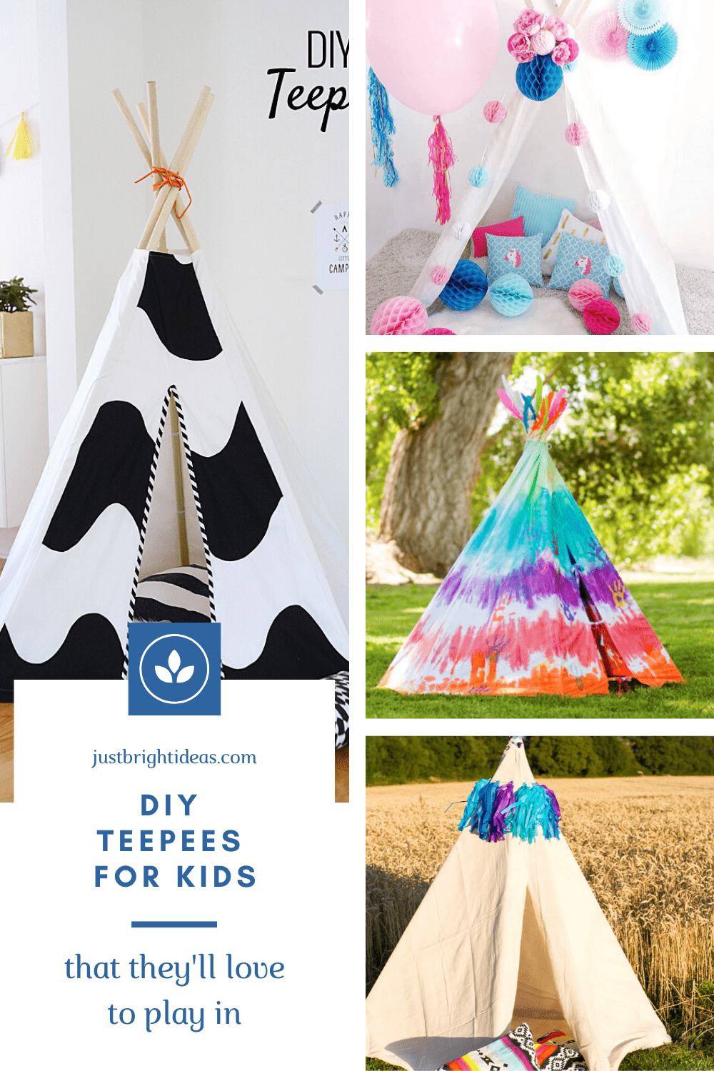 We love these DIY teepees for kids - they're perfect for playing in, snuggling up in and reading in