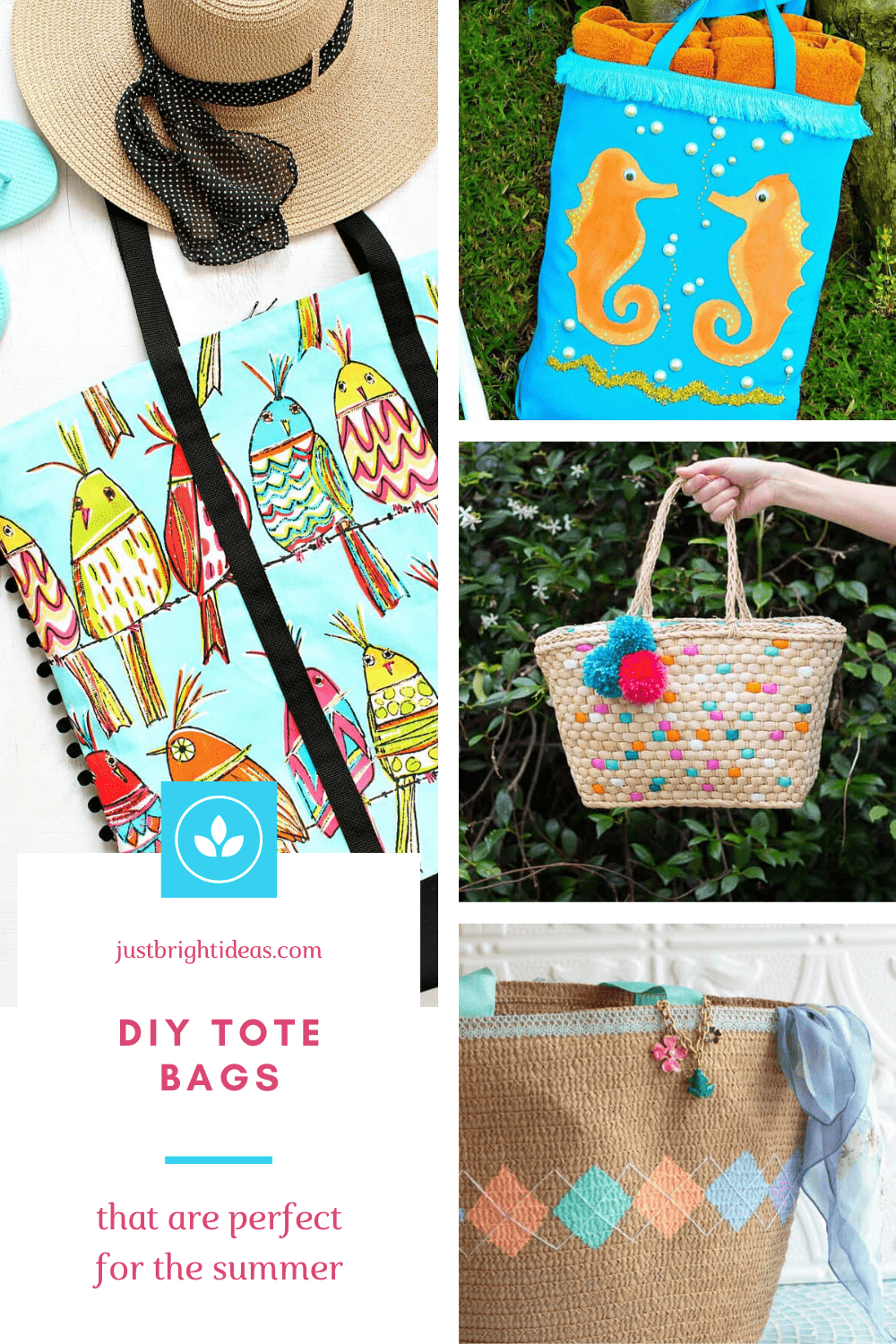 Summer is a coming so it's time to make a DIY tote bag (or three) so you have something to carry all your things around in