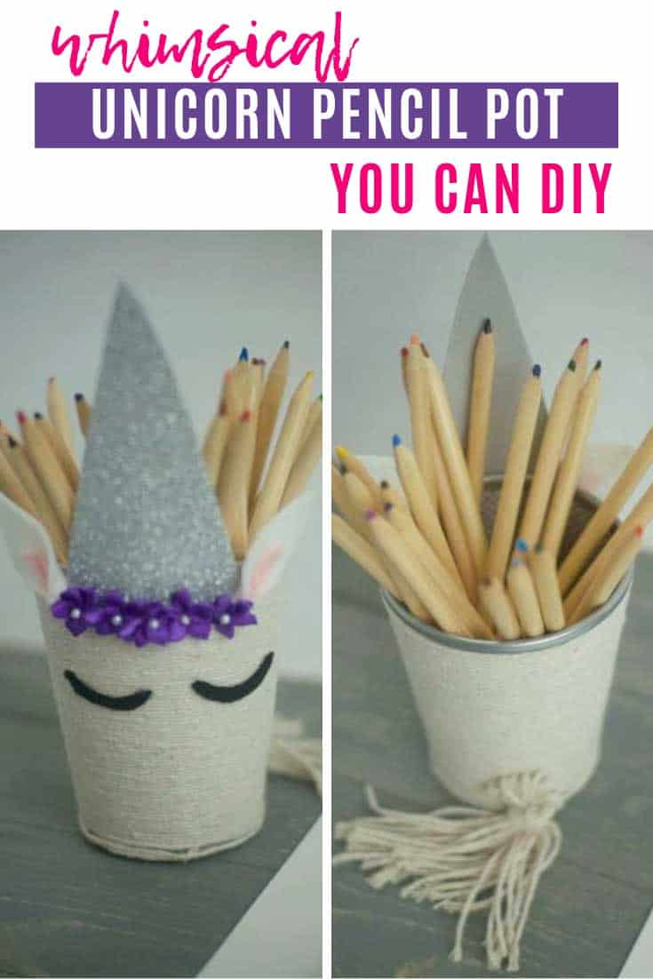 How to Transform a Boring Mesh Pencil Pot into a Magical Unicorn
