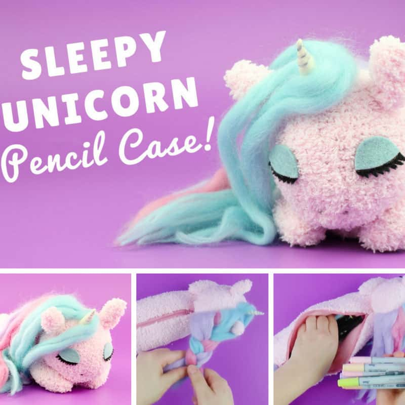 Loving this DIY unicorn pencil case! Thanks for sharing!