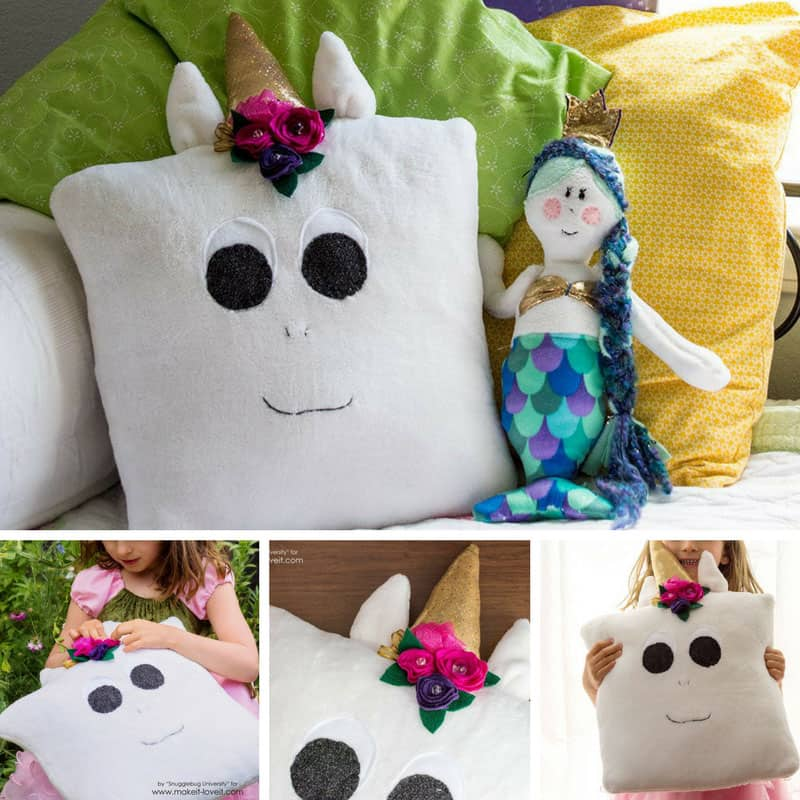 This DIY unicorn pillow craft is the perfect snuggle buddy! Thanks for sharing!