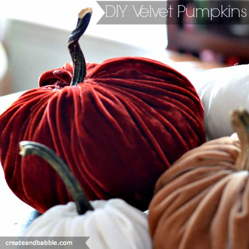 DIY Velvet no Carve Pumpkins