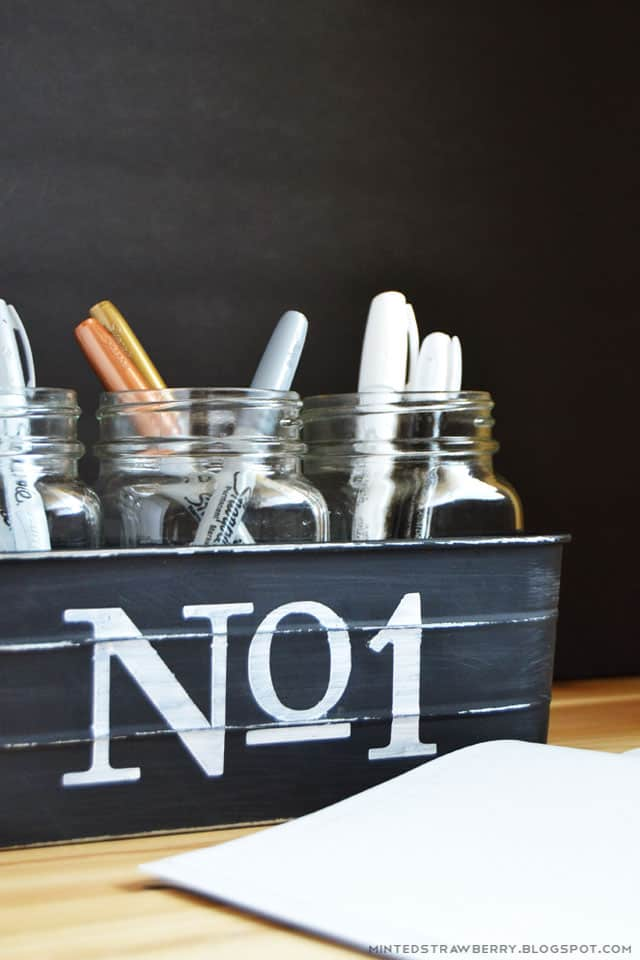 DIY Vintage Style Pencil Holder