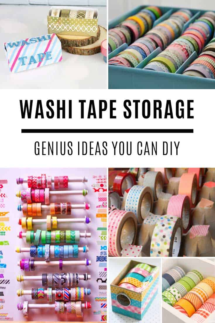 These DIY washi tape storage ideas are just what you need. From portable to desk organizers there's something here for you to make.