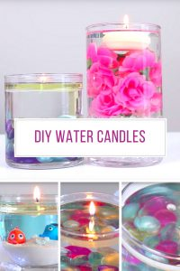 These DIY water candles are beautiful and so easy to make!