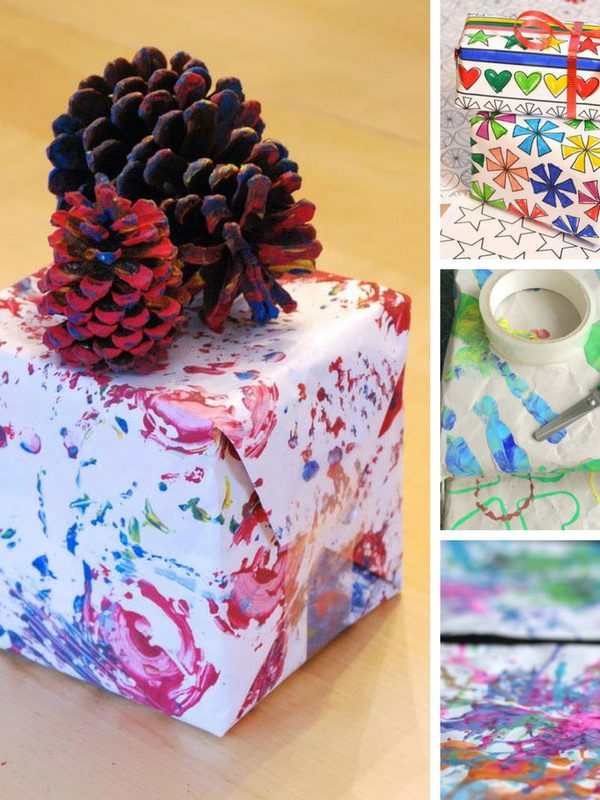Loving this DIY wrapping paper - and the kids will have so much fun making it!