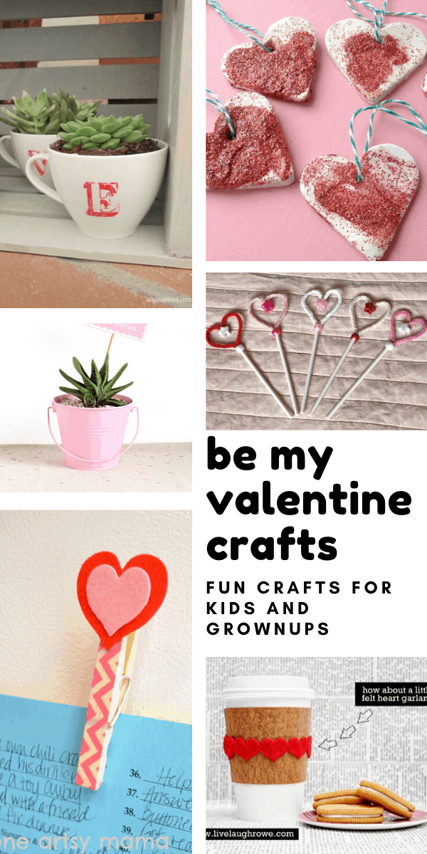 Sweet DIY Be My Valentine crafts to make this weekend!