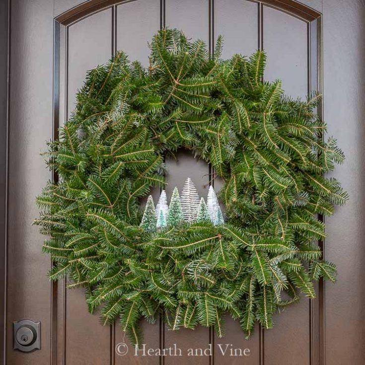 DIY Bottle Brush Wreath for Your Holiday Front Door