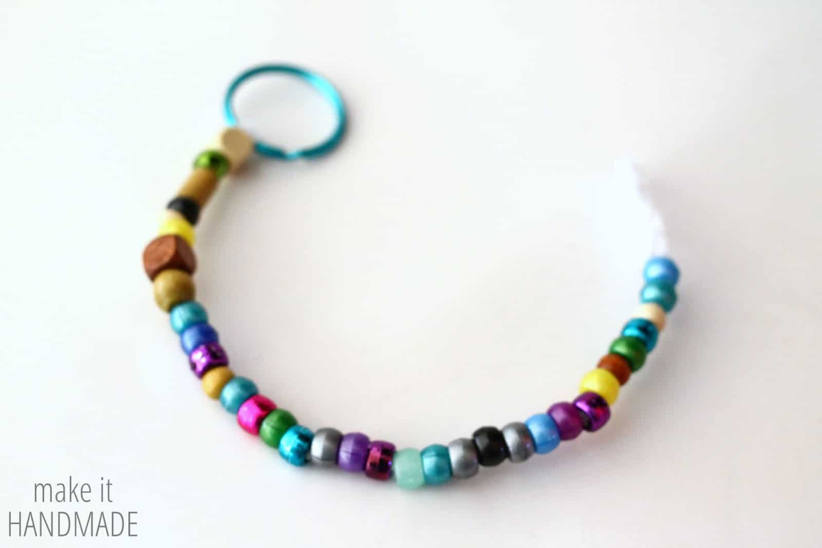 Beaded Keychain Kids Craft