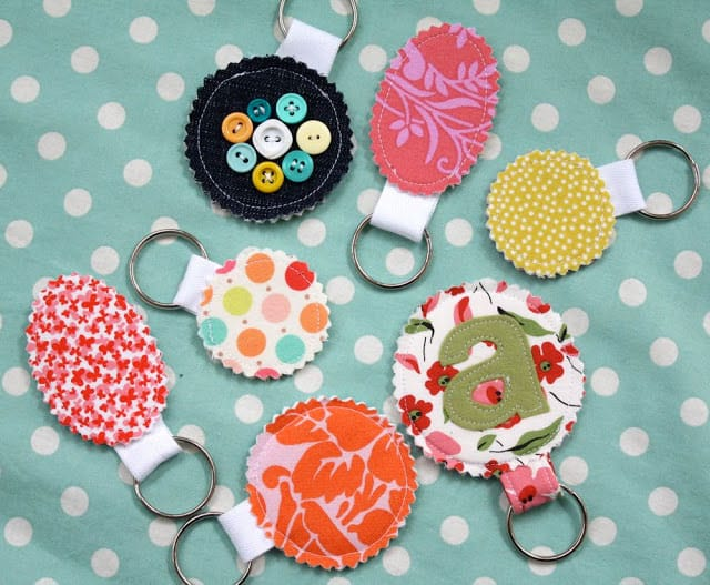 Fabric Scrap Keychain Tutorial