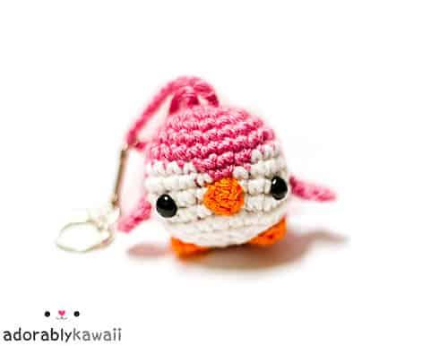 Mini Penguin Amigurumi Keychain