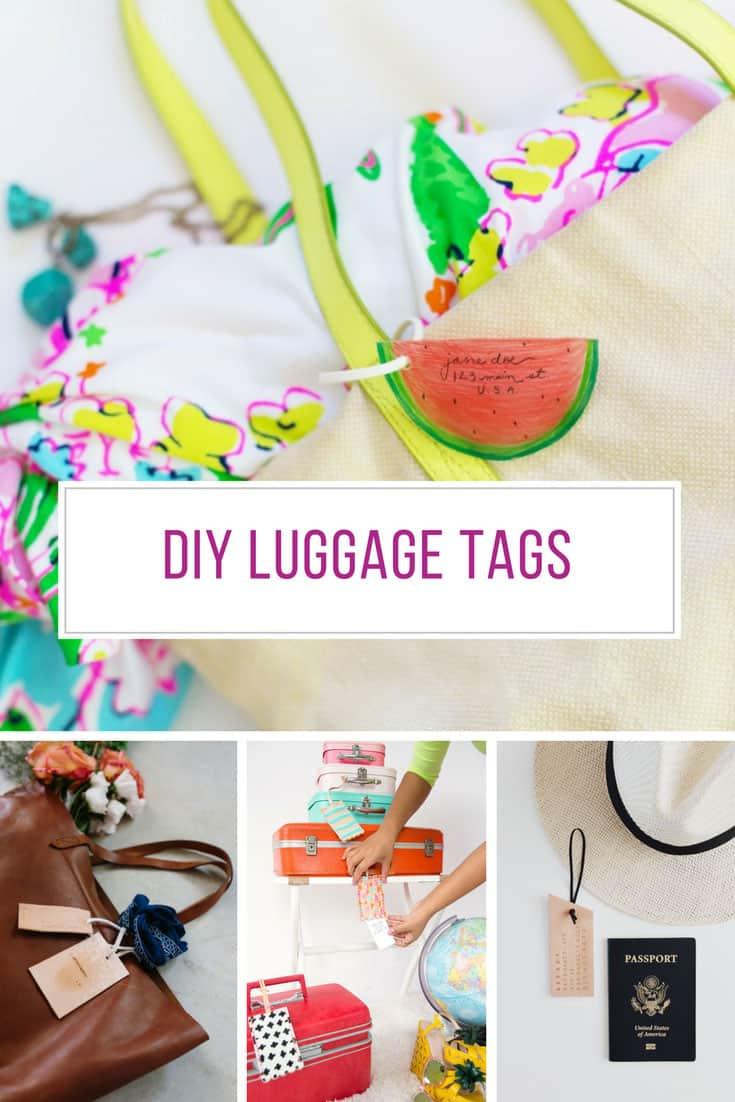 Loving these DIY luggage tags - Thanks for sharing!