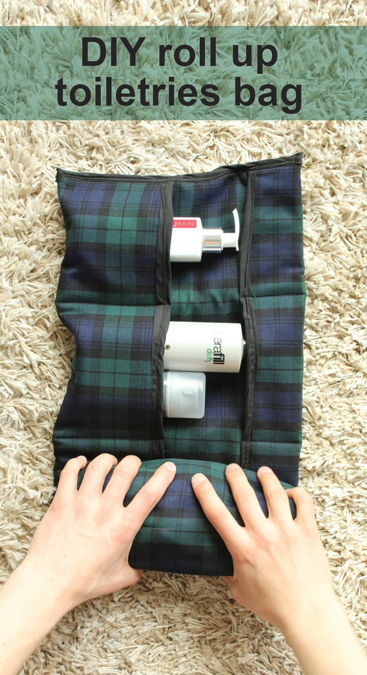 How to Sew a DIY Travel Toiletries Bag