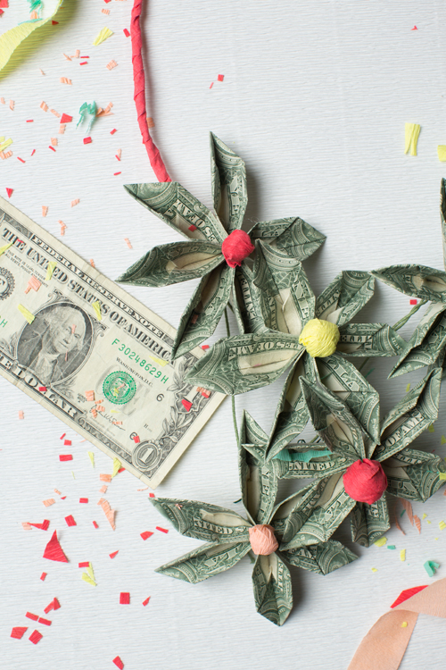 DIY Money Necklace Grad Gift
